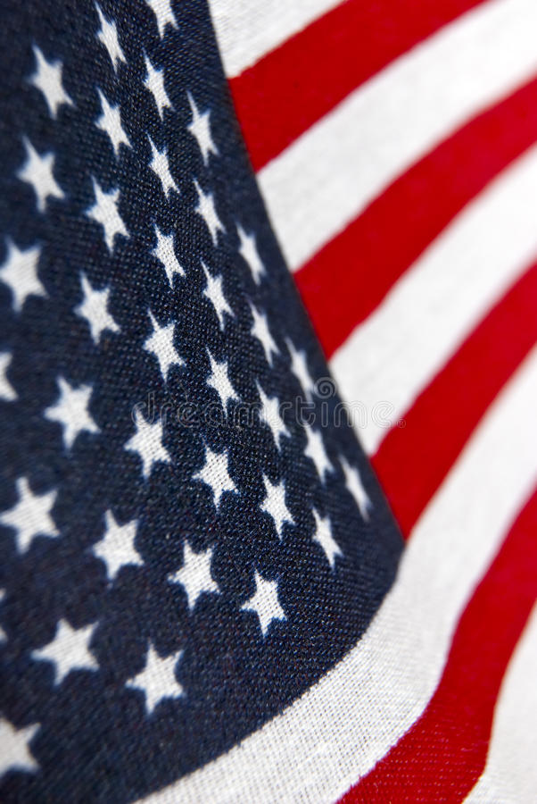 American Flag. Close up picture of a colorful American Flag royalty free stock image