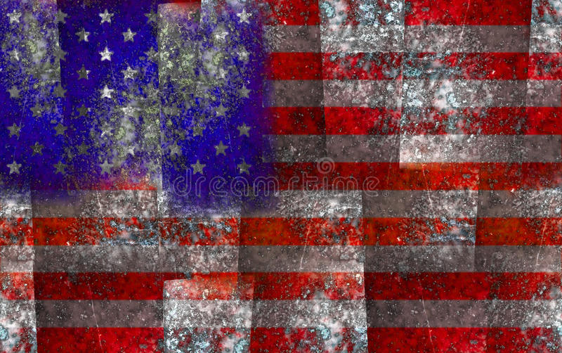 American Flag. Abstract american flag from lapis lazuli background royalty free stock photography