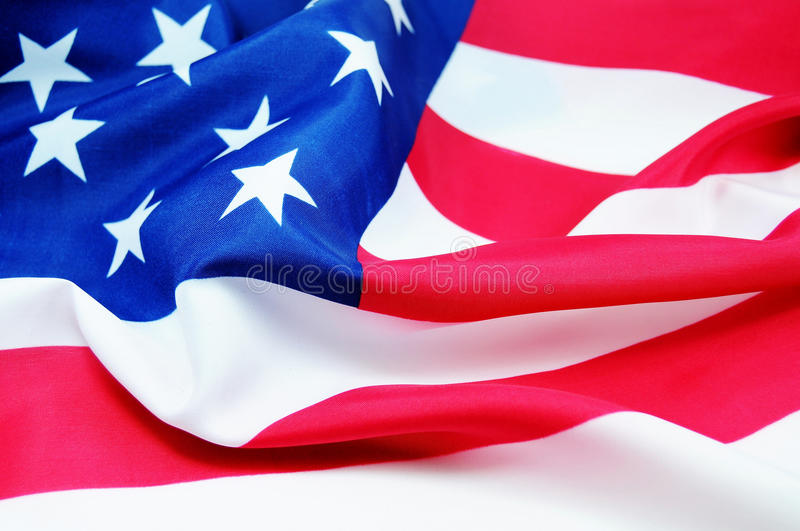 American flag. High resolution American flag in the wind stock images