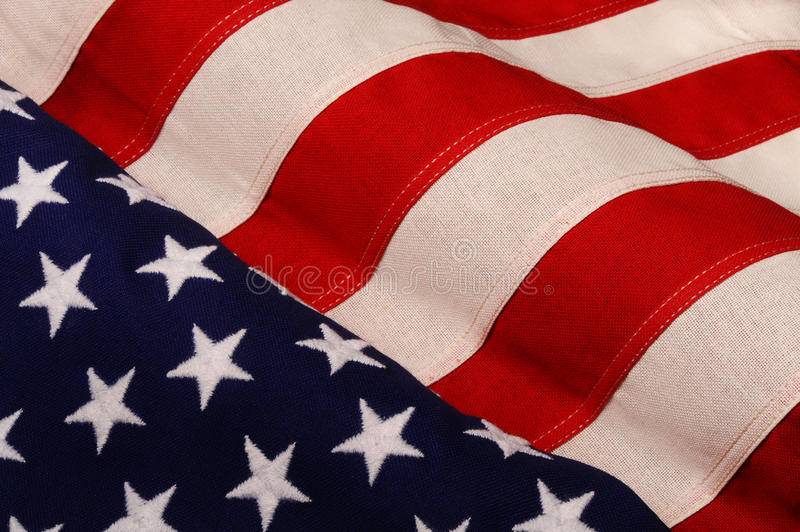 American flag. Waving surface of American Stars and Stripes flag stock photos
