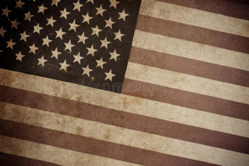 American Flag. Grunge Textured Background royalty free stock image
