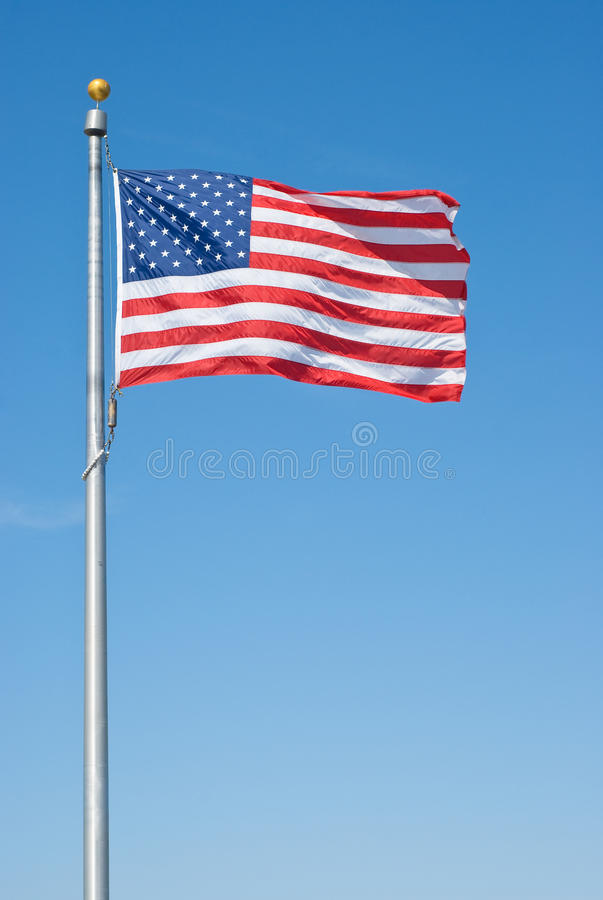 American Flag. As Symbol of the American Nation stock photography