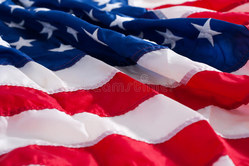 American flag. Draped or folded royalty free stock photos