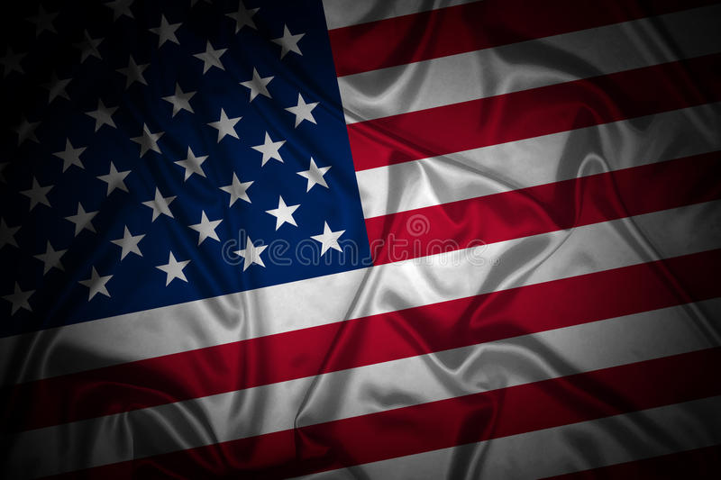 American Flag. Closeup image of the american flag vector illustration