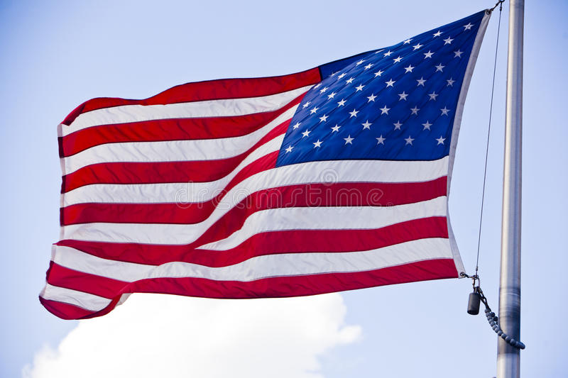 American Flag 2. Medium shot of the American Flag royalty free stock image