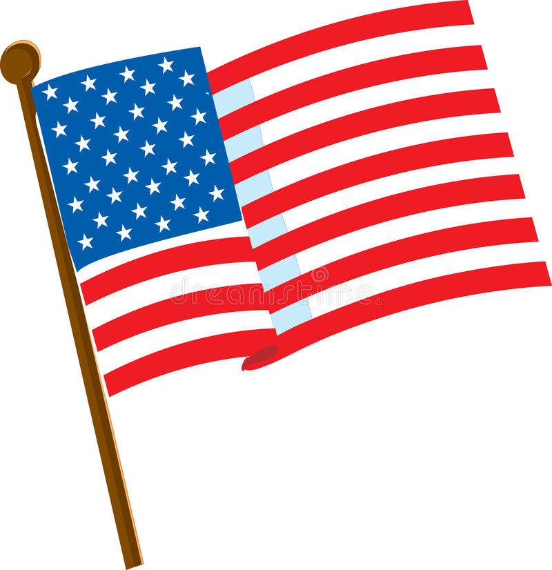 Download American Flag 2 stock vector. Illustration of pole, banner - 2230047