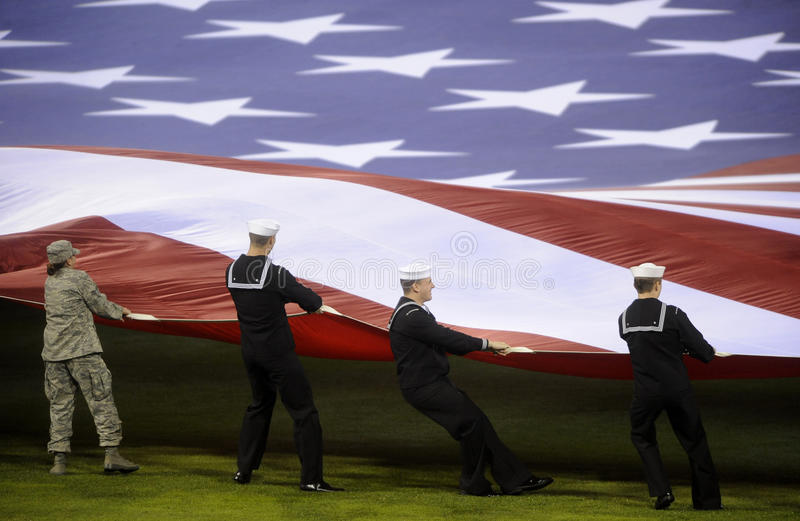 Download American Flag editorial stock photo. Image of unfurling - 20952538