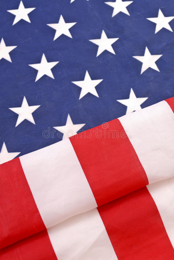 American Flag. Slightly Folded For A Fun Image stock photography