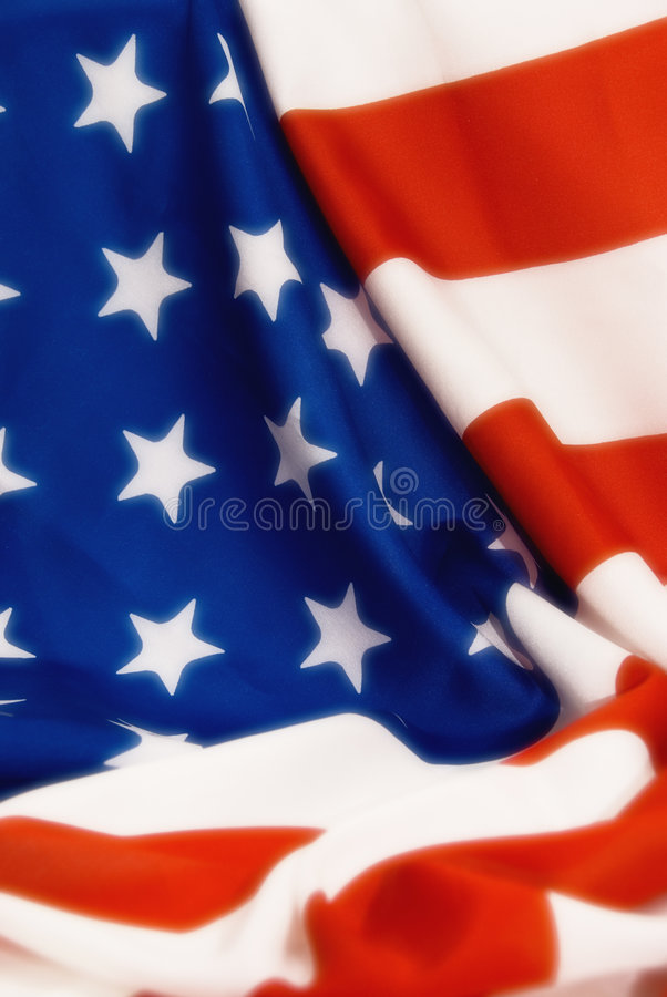 American flag. Background of American flag in soft blur royalty free stock photo