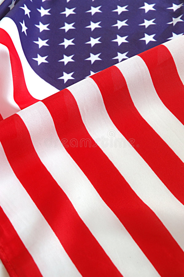 American flag. Close-up of an American flag royalty free stock image