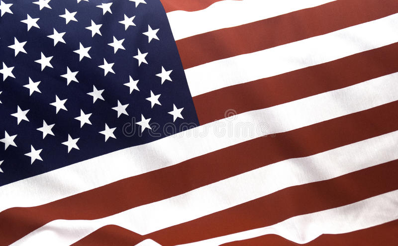 American Flag. Photograph of the American Flag stock image