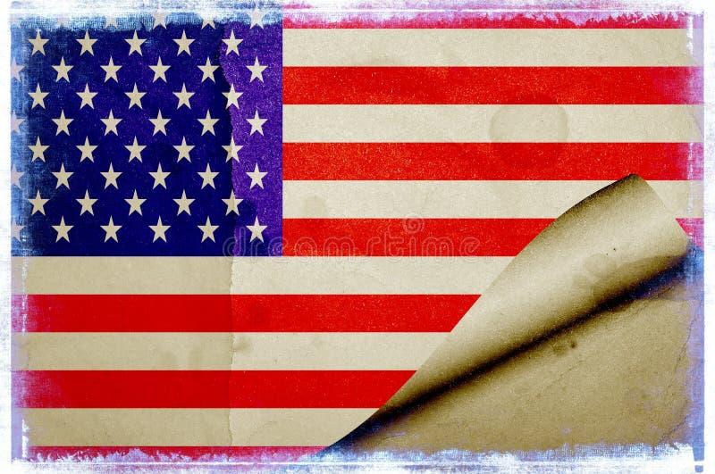 American flag. Grunge american flag in retro style royalty free illustration