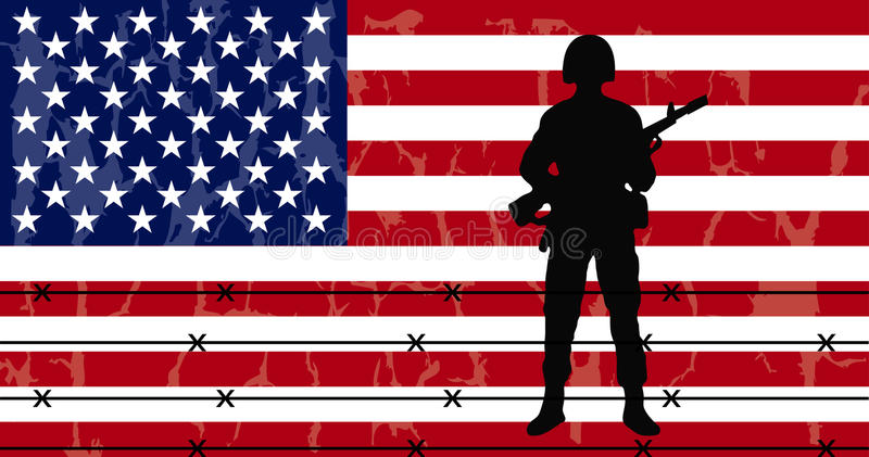 Download American flag stock vector. Illustration of army, uniform - 28564876