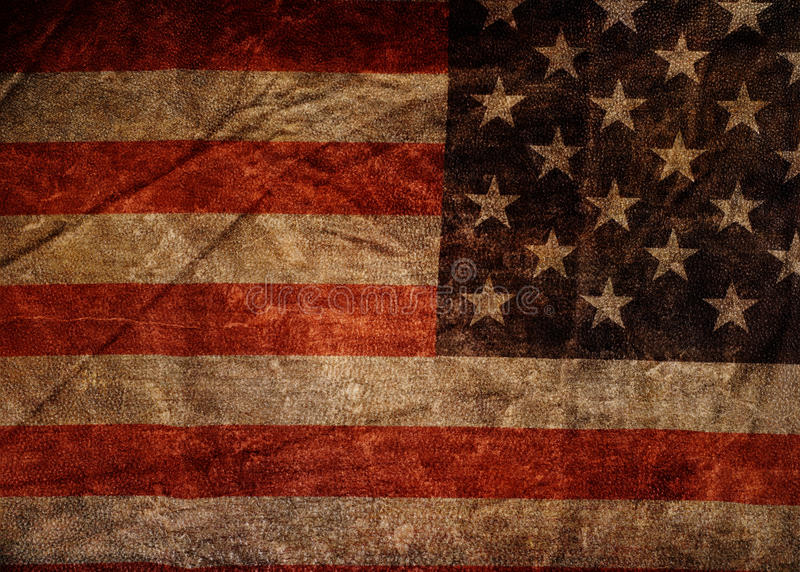 American flag. Grunge American flag texture of close up stock illustration