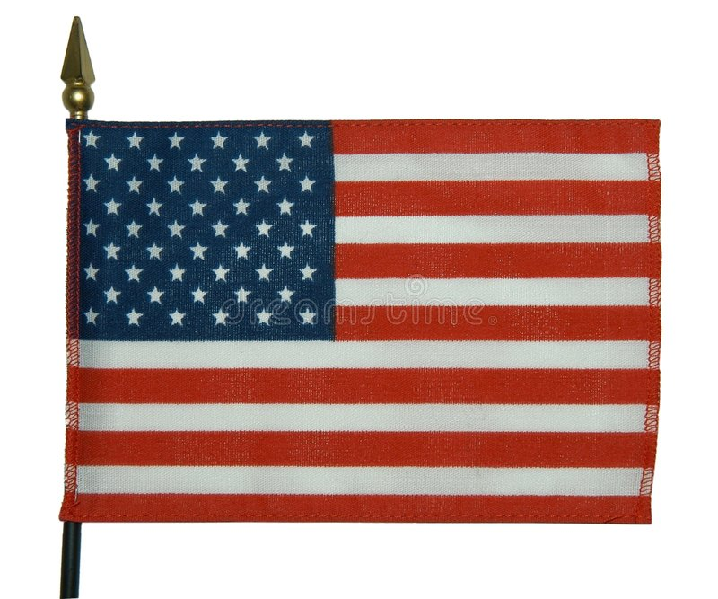 American flag 3 stock photos
