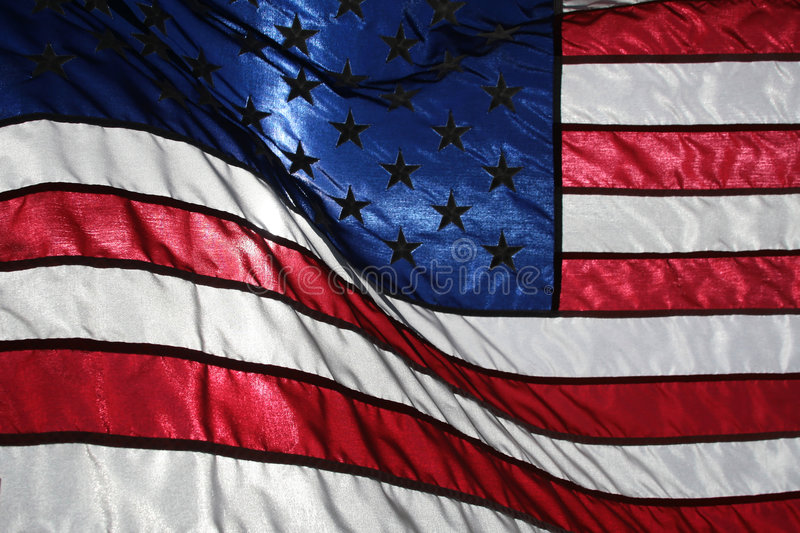 American Flag. Picture of the American stars and stripes flag royalty free stock photo