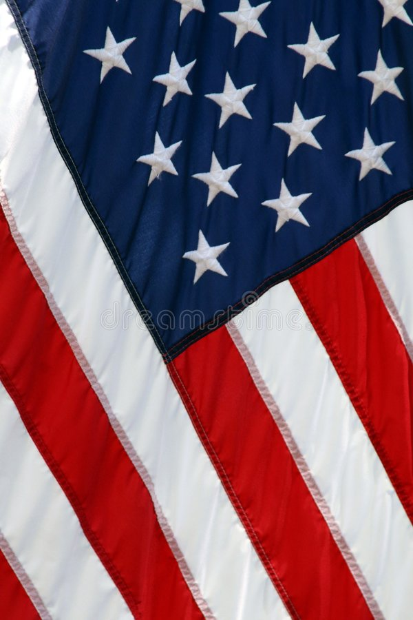 American flag. Red white and blue with stars stock photos
