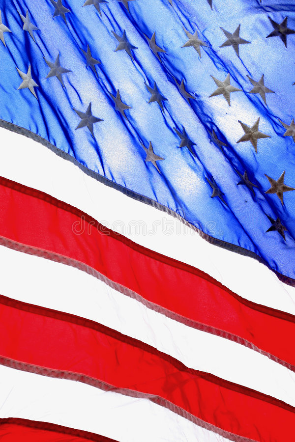 American Flag. A Close up of the American flag stock photos