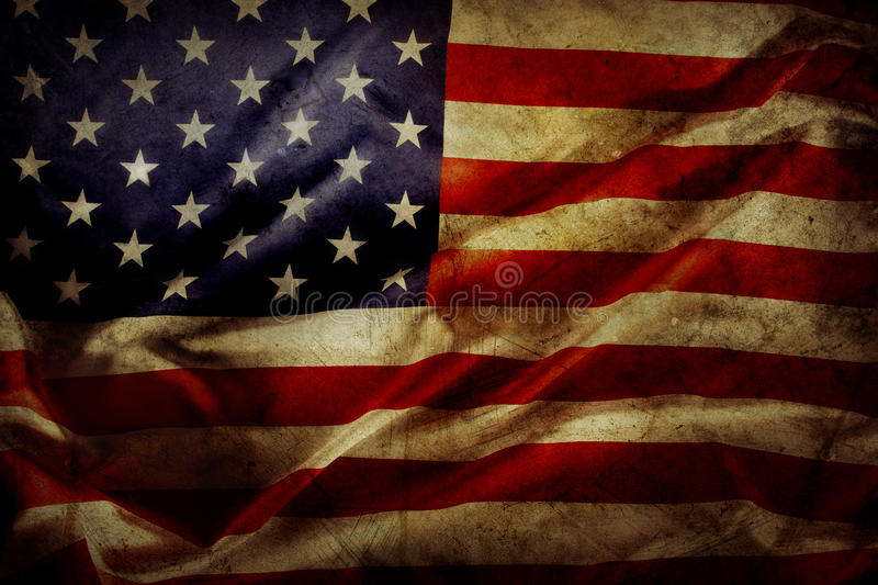 American flag. Closeup of grunge American flag royalty free stock photography