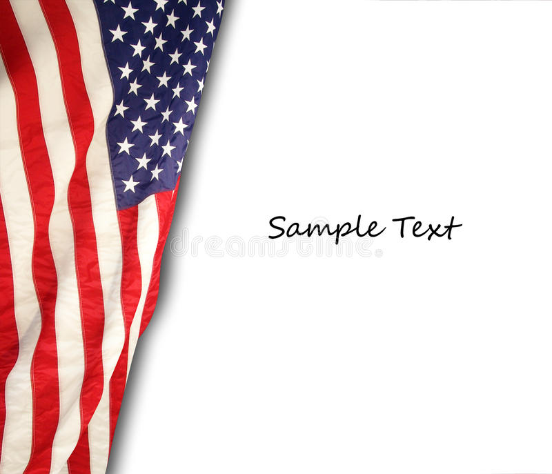 American flag. The american flag on the background stock photography