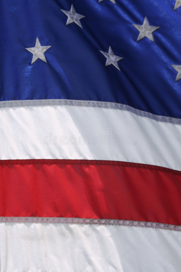 American Flag. Waving in the wind stock photos