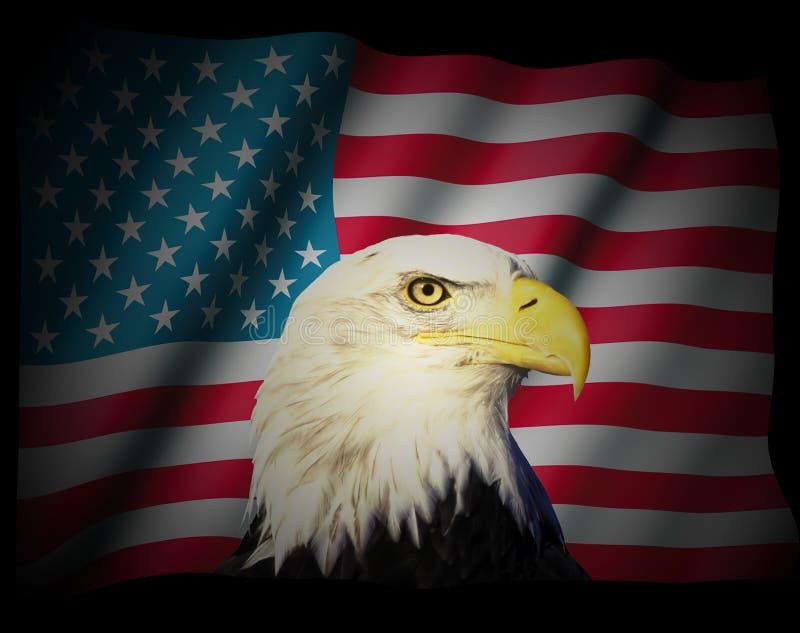 Download American flag stock illustration. Illustration of star - 5019753