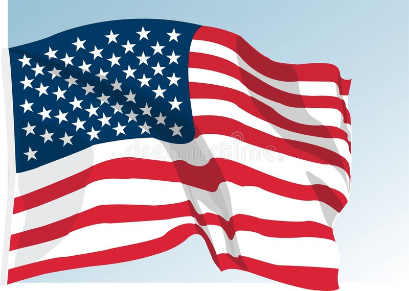 Download American flag stock vector. Illustration of patriotic - 5231504