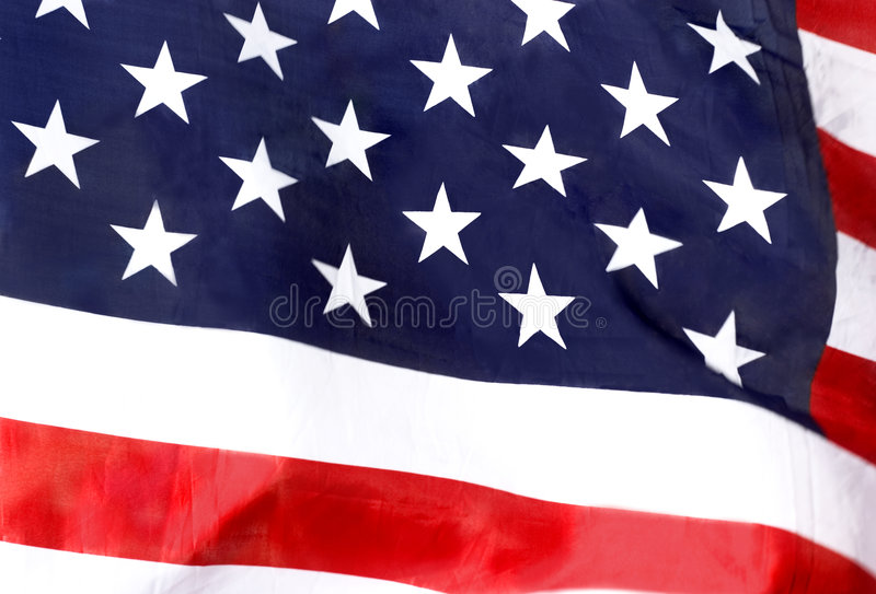 American flag. Close-up royalty free stock photography