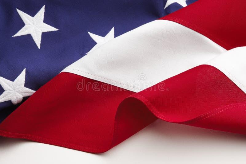 American Flag. Closeup on white background stock photos