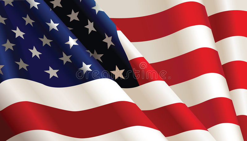 American Flag. Vector color Illustration