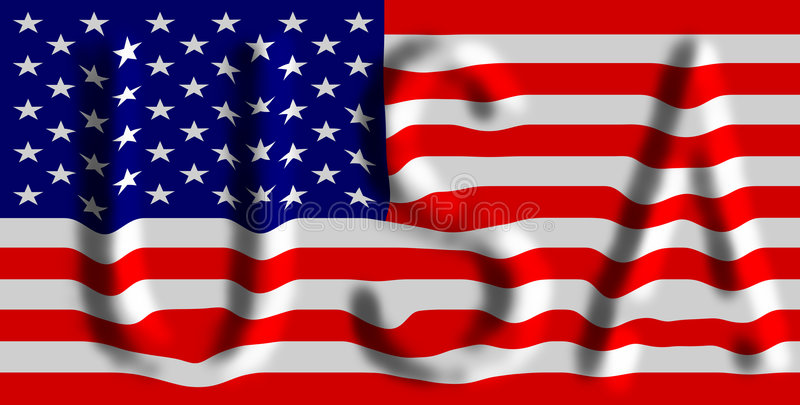 The American Flag vector illustration