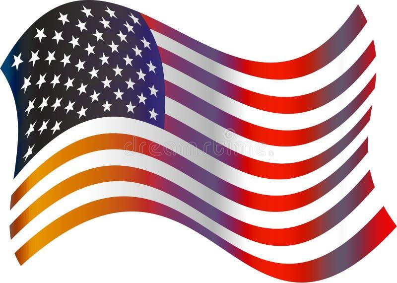 American flag royalty free illustration