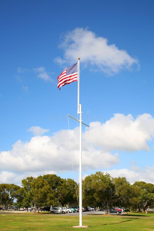 American flag. Everglades national park, Miami FL royalty free stock image