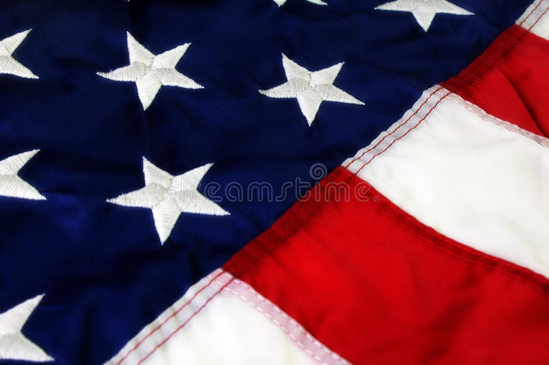 American Flag. Detail view of American Flag royalty free stock image