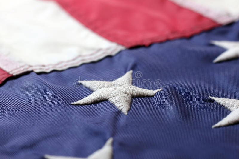 American Flag. Close up view of American Flag stock photo
