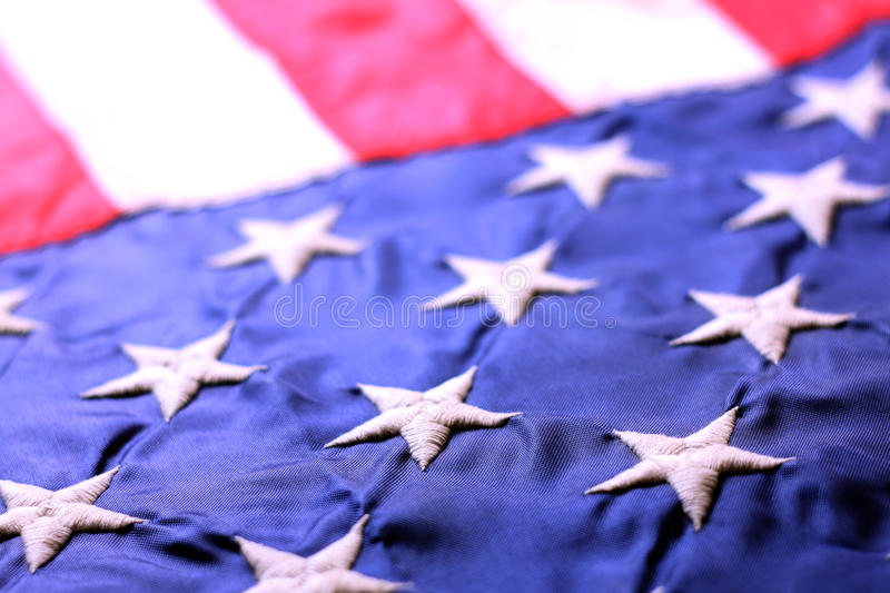 American Flag. Close up view of American Flag stock photography