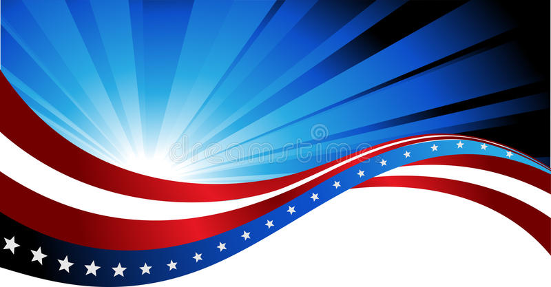 American flag, abstract background of the stock illustration