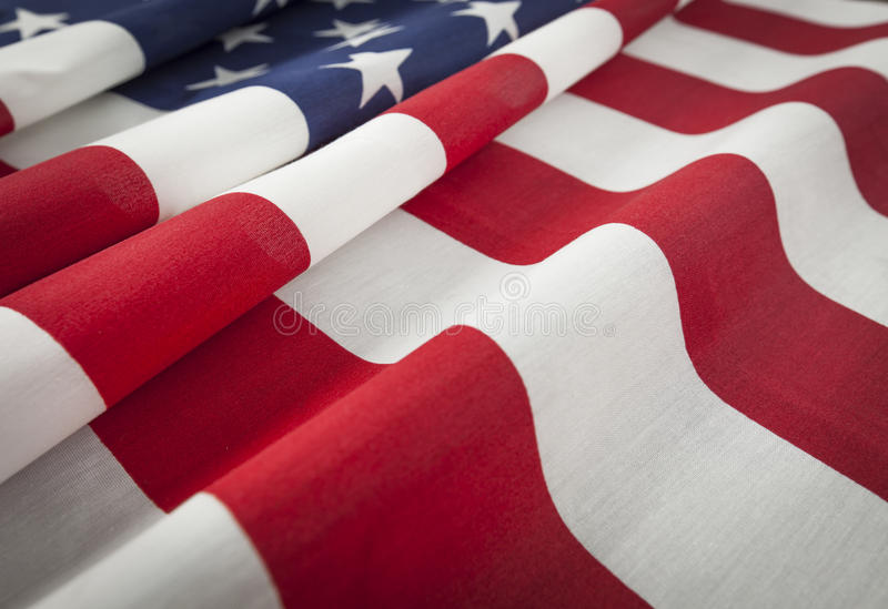 American Flag Abstract. Beautiful Folded American Flag Abstract royalty free stock photography