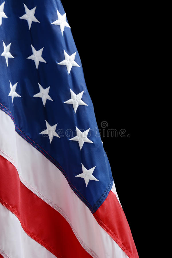 American Flag. Against a black background stock images