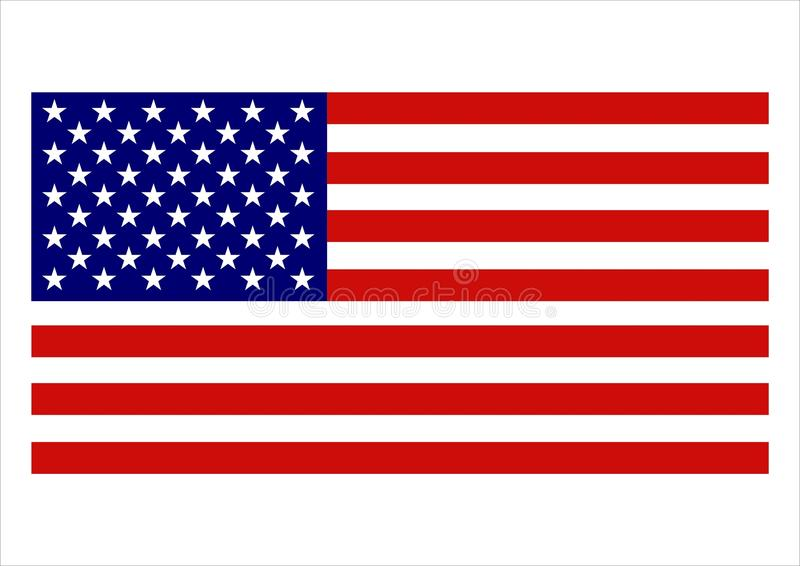 American Flag royalty free illustration