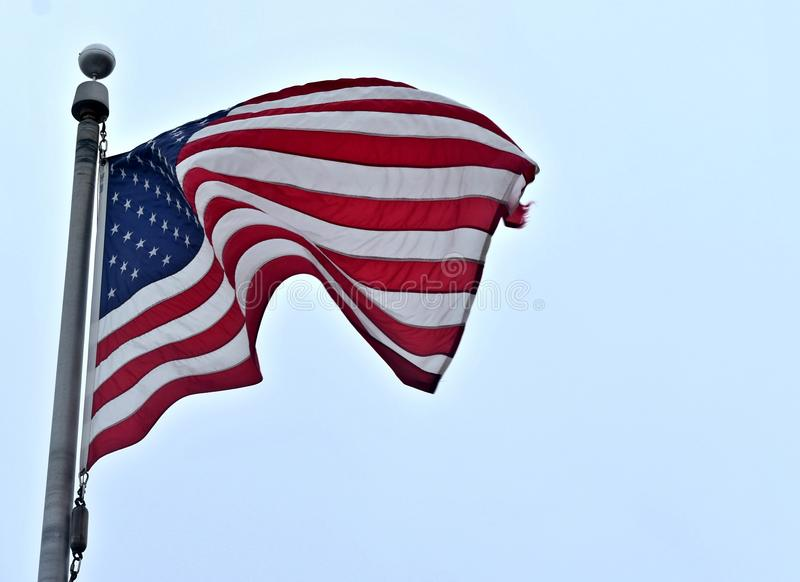 American Flag. Waving in the breeze royalty free stock photos