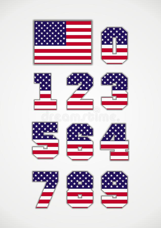 Free American Flag And Numbers Royalty Free Stock Image - 16760626