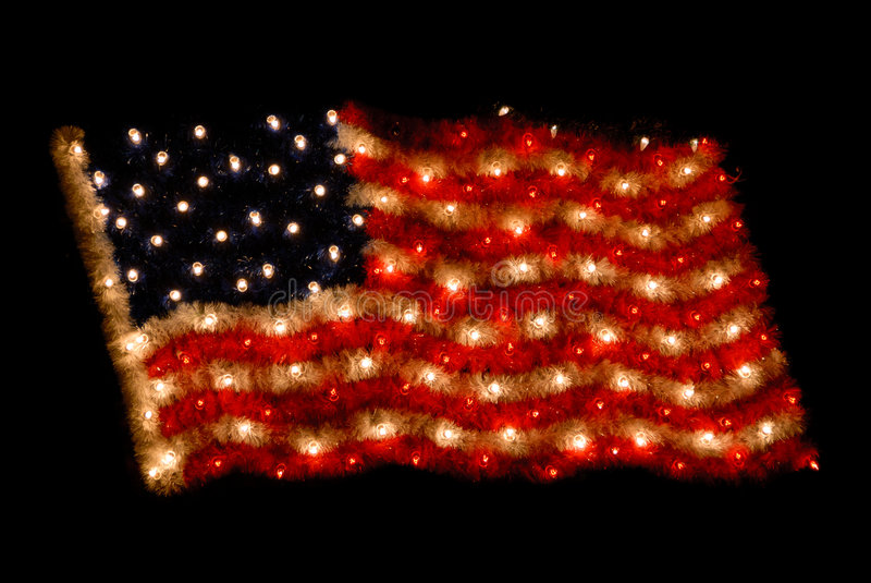 American Flag Christmas Lights Stock Image 6577655 Download