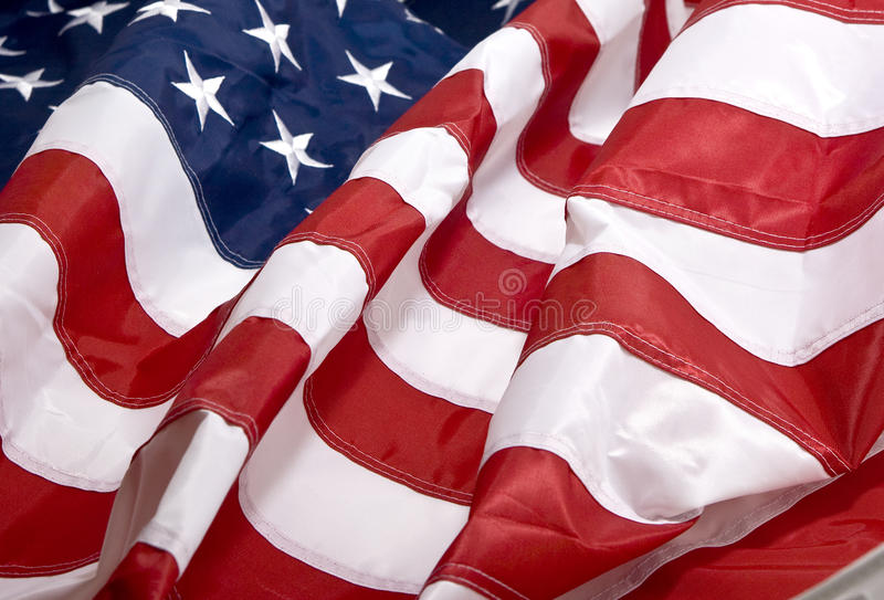 American flag background. Isolated close up royalty free stock photography