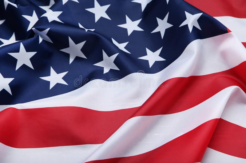 American flag. Background, close up stock photos
