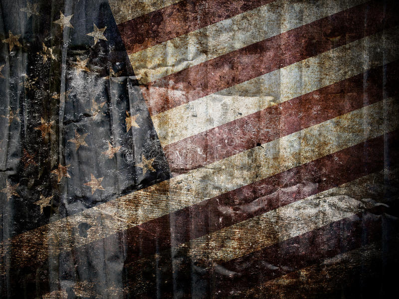 American flag background. American flag on grungy background royalty free stock photos