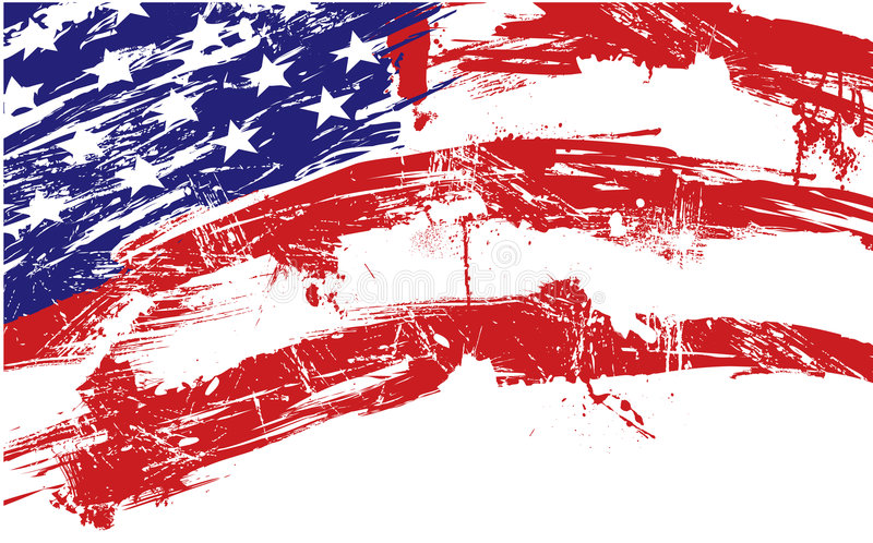 American flag background stock illustration