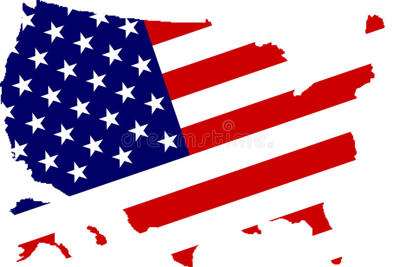 American flag background. A grunge American flag background royalty free illustration