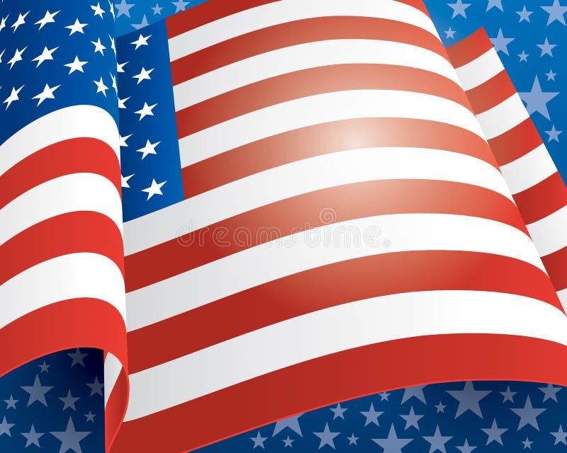 American Flag Background stock illustration