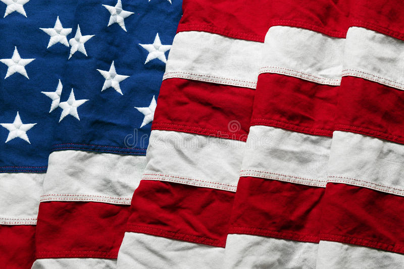 American flag background. For Memorial Day or 4th of July stock photography